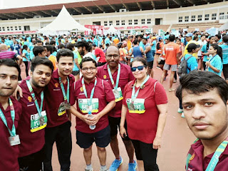 IMT Hyderabad student s & Faculty participates in Airtel Hyderabad Marathon 2017