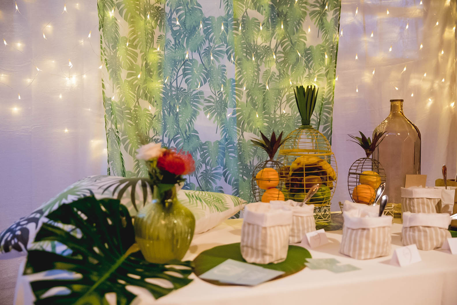 Sweet table tropicale