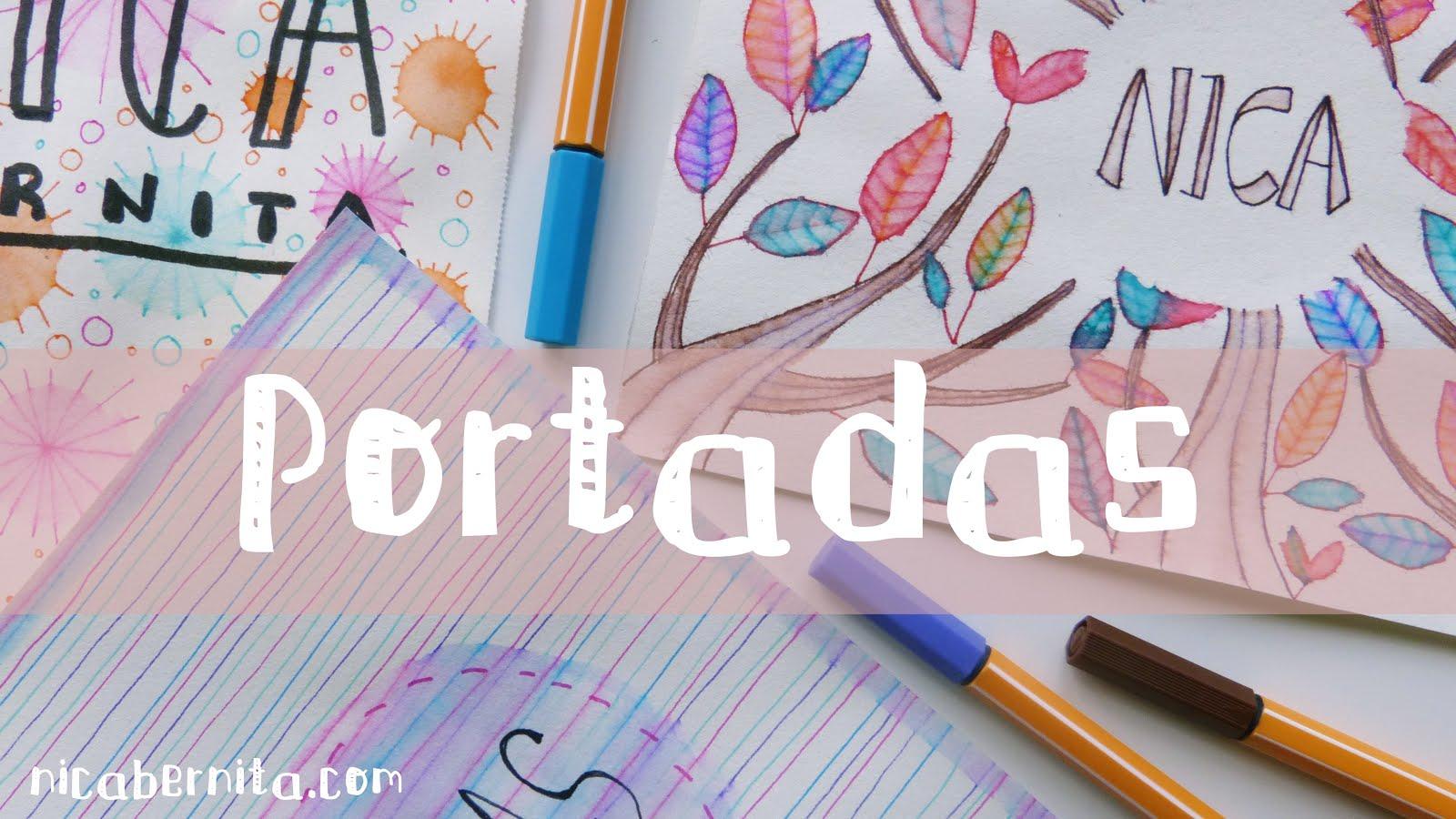 IDEAS PARA DECORAR CUADERNOS 🤓 PORTADAS PARA TRABAJOS ESCOLARES ...