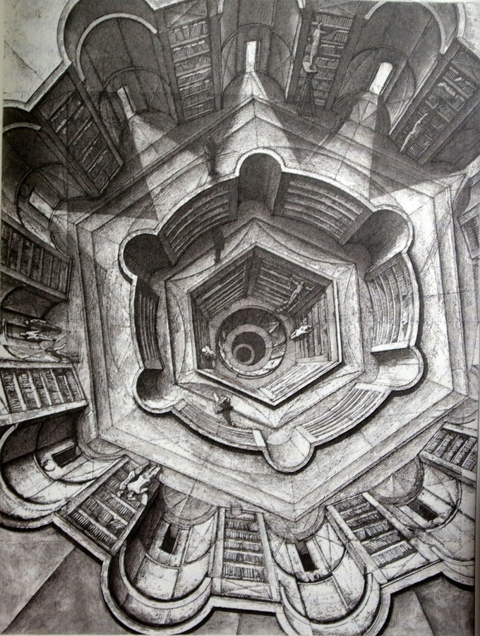 05-Library-of-Babel-3-Erik-Desmazières-Architectural-Etching-and-Pencil-Drawings-www-designstack-co
