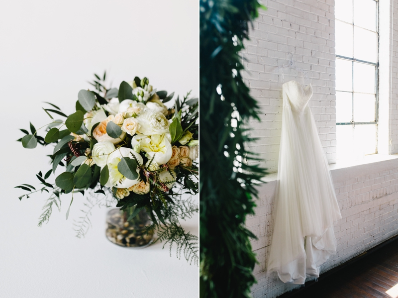 flowers and wedding dress at ambient plus