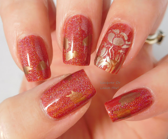 Messy Mansion MM78XL over Shinespark Polish Heart Of A Hero