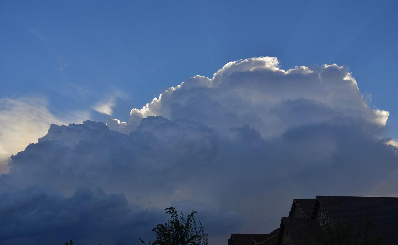 More cumulonimbus clouds - light-in-leaves