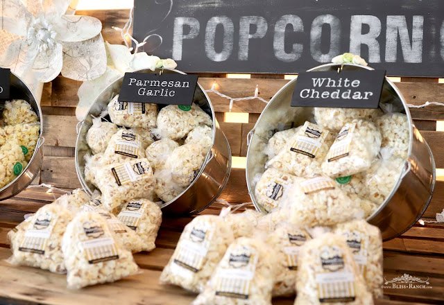 PoppedCorn Popcorn Cart Wedding, Bliss-Ranch.com