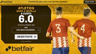betfair supercuota victoria del Atletico al Sevilla 23 Septiembre