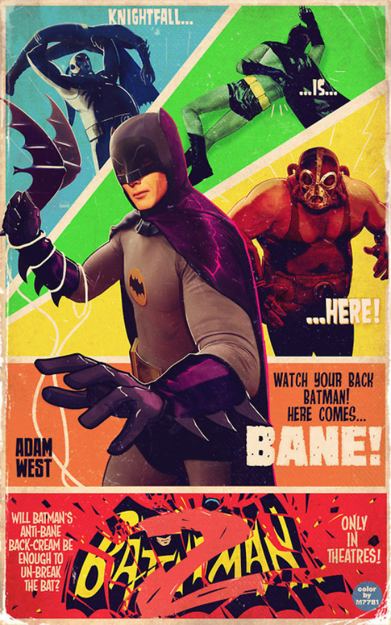 cartel antiguo de batman con Adam West
