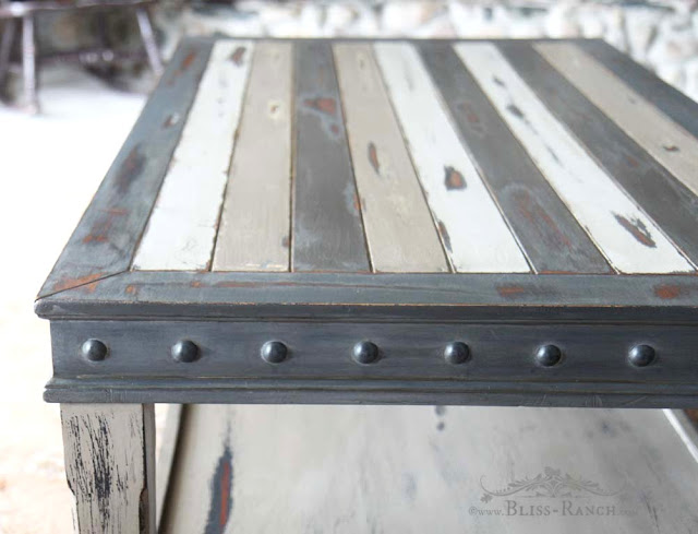 Distressed Coffee Table Redo Fusion Paint, Bliss-Ranch.com