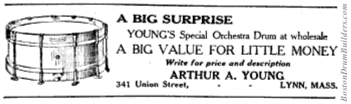 1922 A. A. Young Drum Advertisement