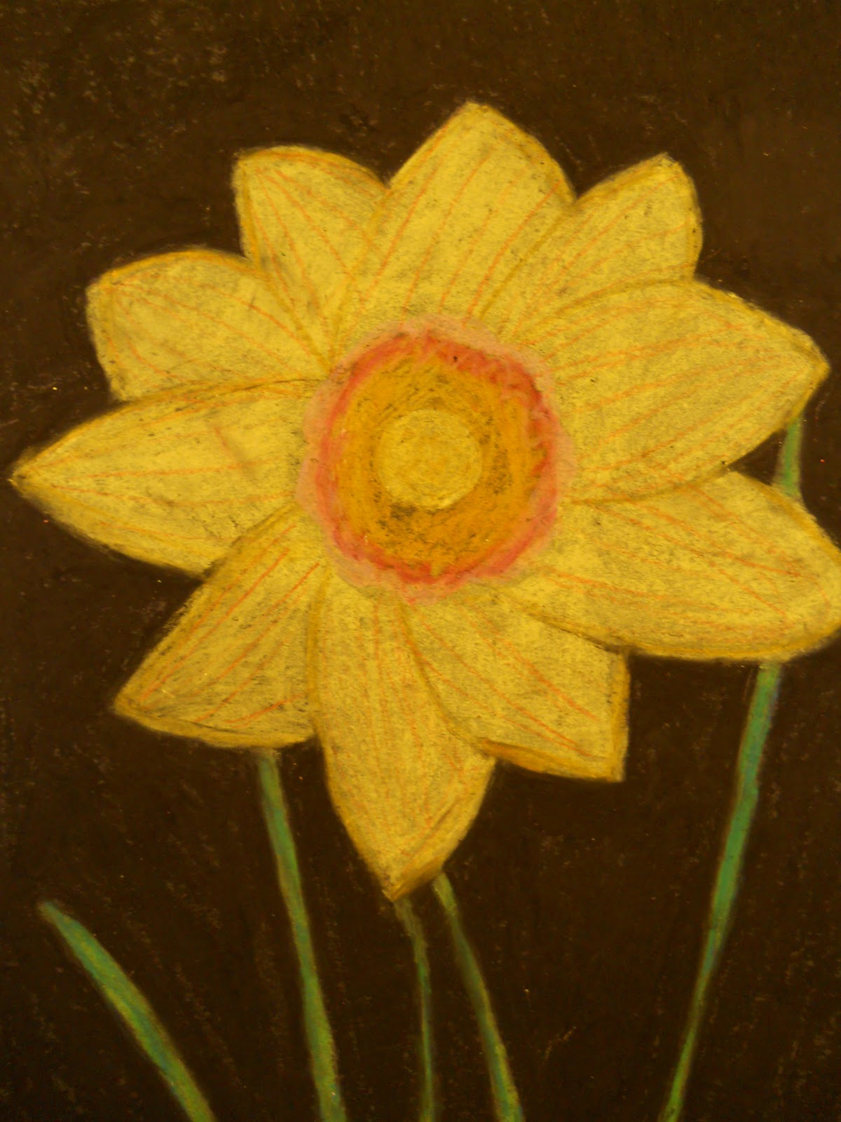 Creative Hands FEBRUARY ART STUDENT OF THE MONTH AND OIL PASTEL DRAWINGS