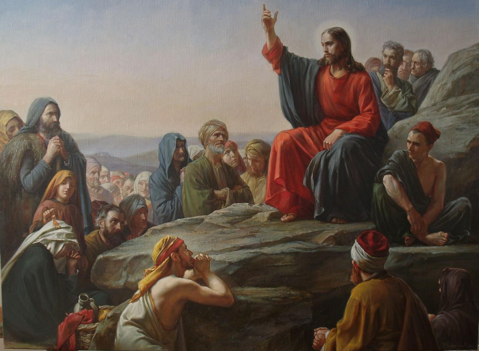 Sermão do Monte - Pintura de Andriy Shumskiy