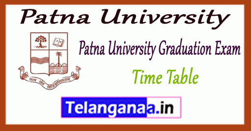 Patna University Graduation B.Com BA B.Sc Time Table 2018 Admit Card
