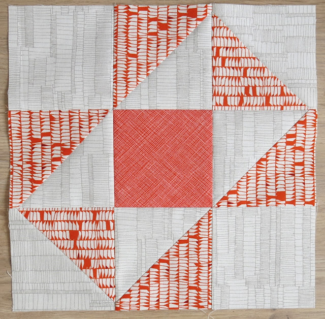 HST Quilt-Along - Stepping Stone block - Carolyn Friedlander's fabrics
