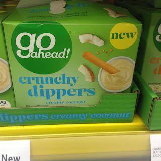 go ahead crunchy dippers creamy coconut