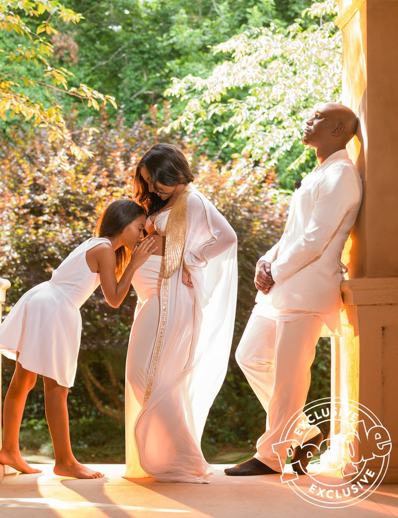 Check Out Tyrese Gibson's Wife's Stunning Maternity Shoot