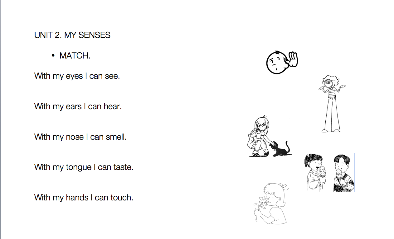 Teacher Nuria Five Senses Worksheets