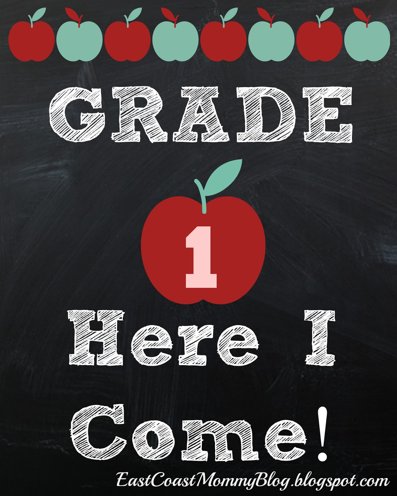 East Coast Mommy Back To School Printables