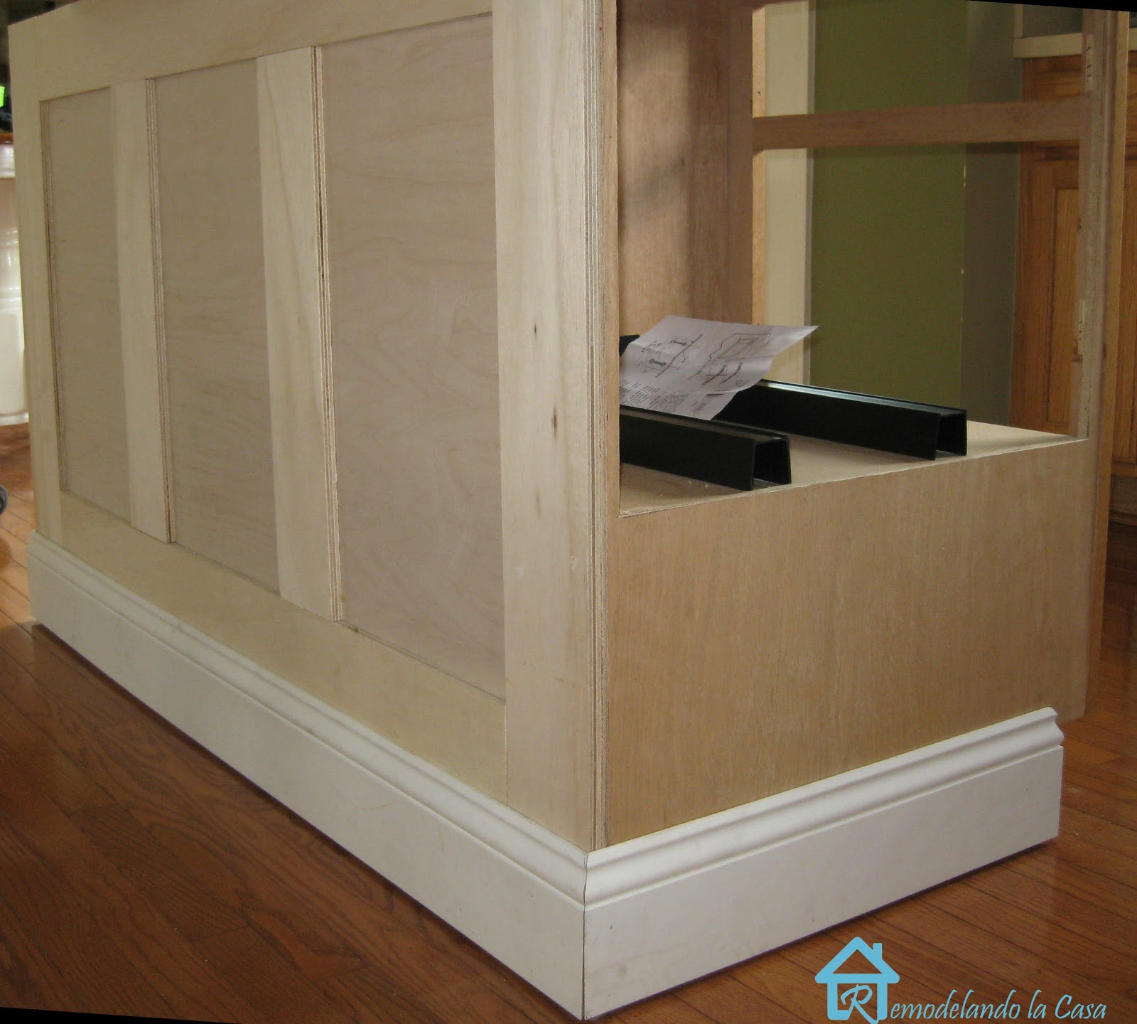 Kitchen Update With Brookhaven Island Desk