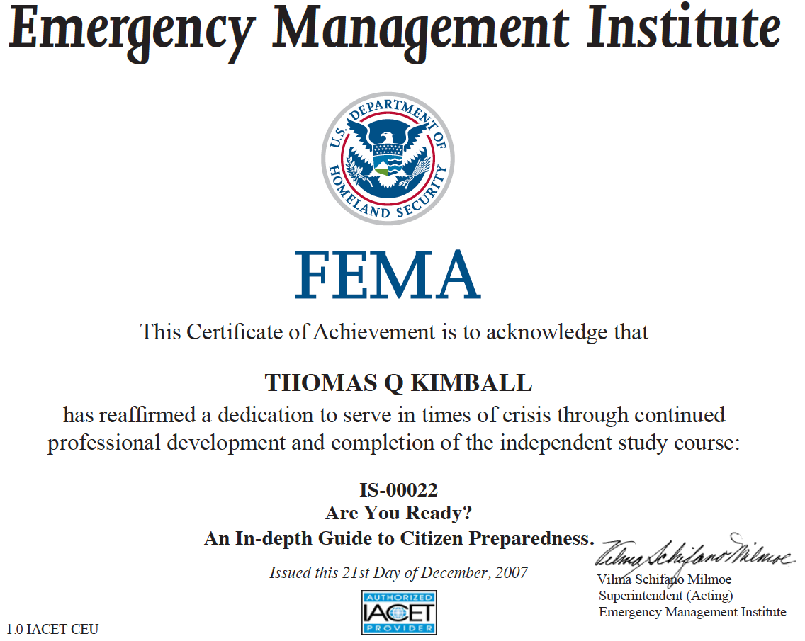 Emergency Management Institute | Independent Study Program ...