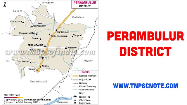 Perambalur District Information, Boundaries and History from Shankar IAS Academy