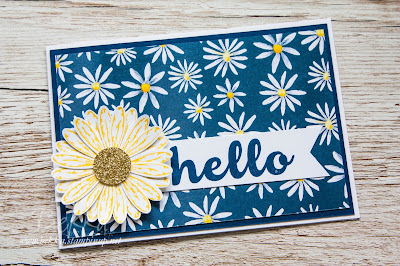 Hello Delightful Daisy Card made with Stampin' Up! UK supplies which you can buy here