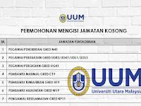 Jawatan Kosong di Universiti Utara Malaysia UUM - Permohonan Jawatan Dibuka