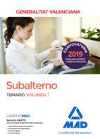 Subalterno Generalitat Valenciana, disponible en Librería Cilsa. Alicante.