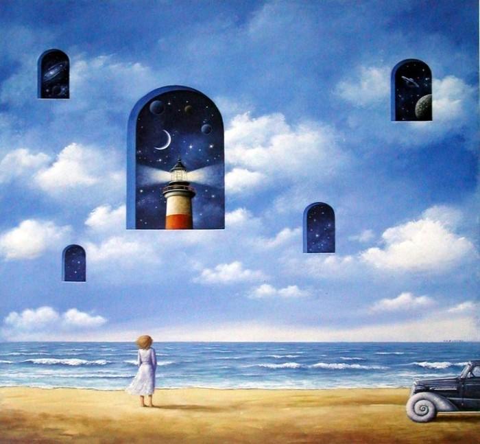 Уникальные сюрреалистические картины. Польский художник. Rafal Olbinski