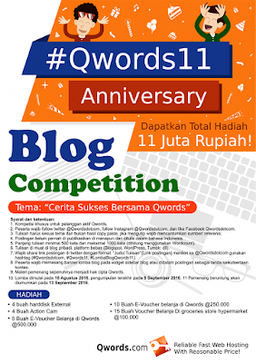 Blog Competition #Qwords11 Anniversary Total Hadiah 11 Juta