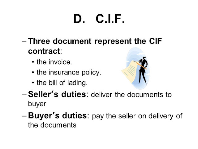 Definition of Cif of sale contract law trade