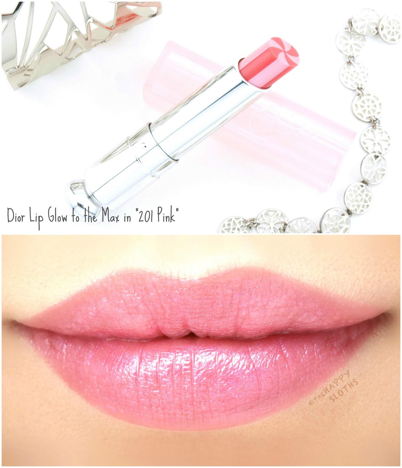 "Dior | Lip Glow to the Max in ""201 Pink"": Review and Swatches"
