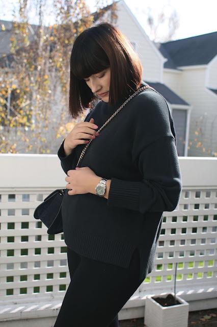 2 weeks postpartum, OOTD, WIWT, Fbloggers, Everlane, knitwear, Chloe, Rolex