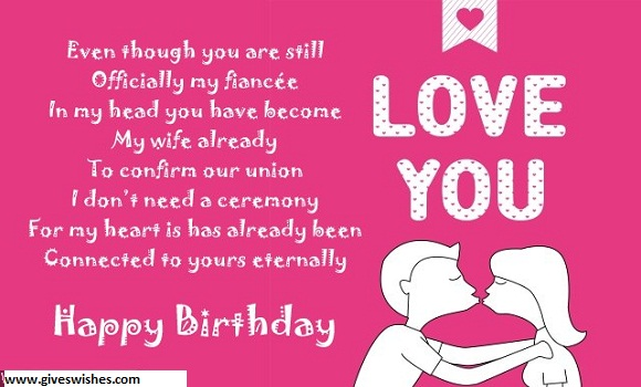 Beautiful Happy Birthday Message For Fiance