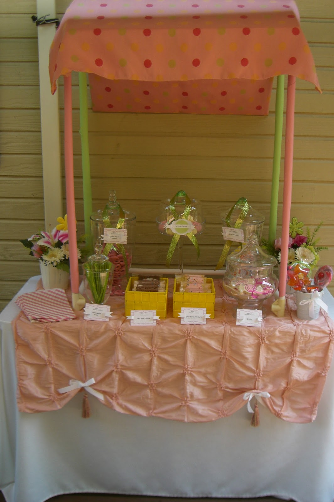 In Flight Party Ideas Sweet Stand
