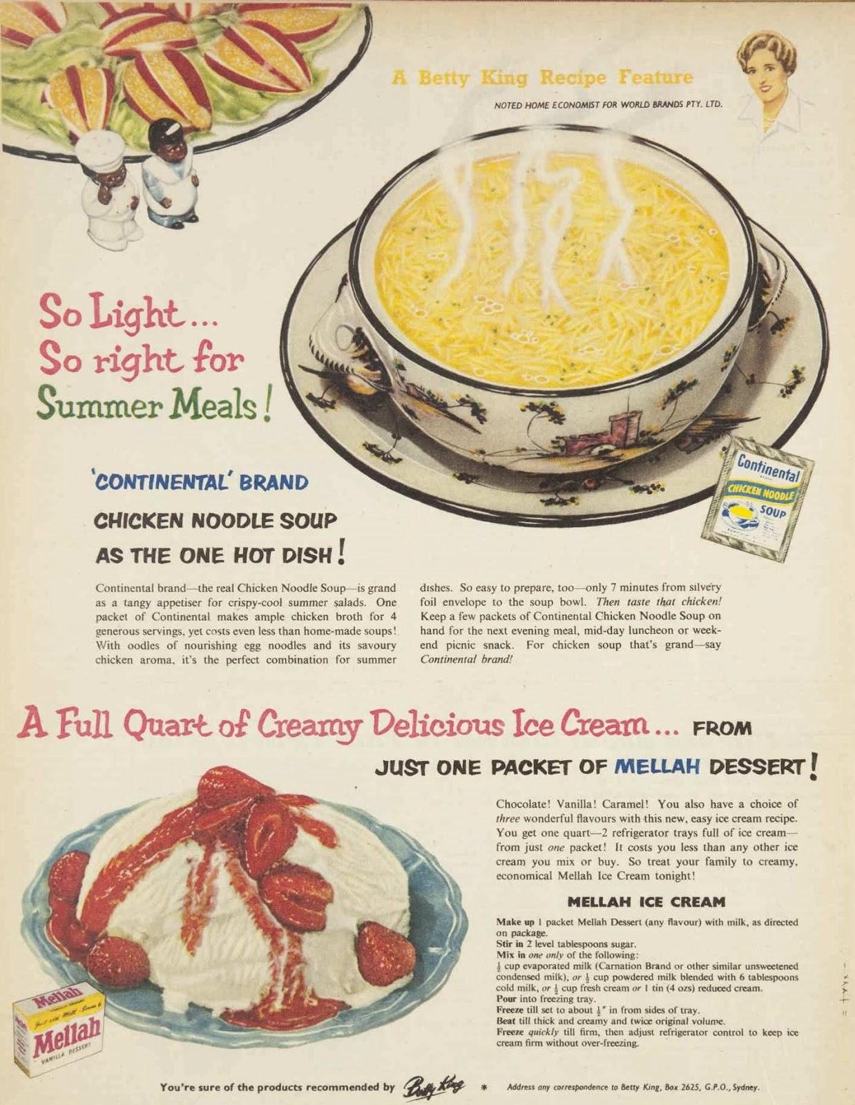 Kitten Vintage Food Of The Fifties 1953