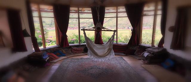 chair hammock by window