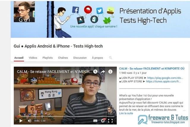 Le site du jour : la chaîne Youtube de GUI (applis Android/iPhone)