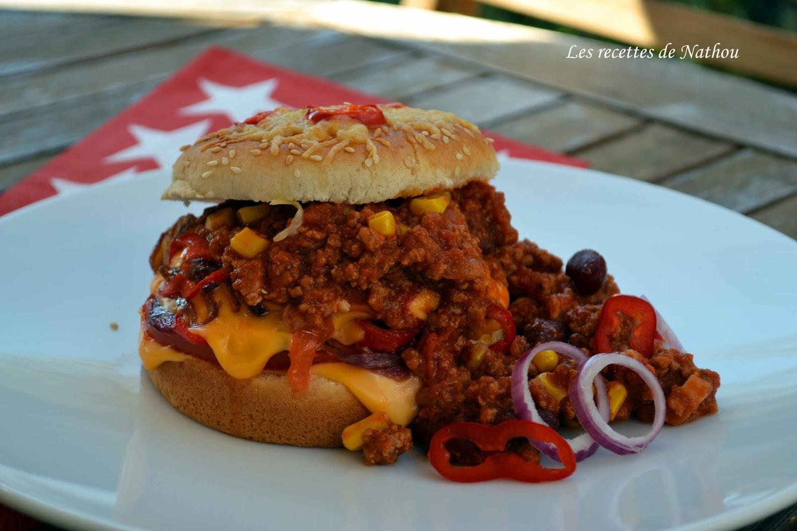 Ma cuisine au fil de mes id es burger au chili con - Chili con carne maison ...