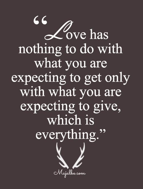 Expecting To Get And Give