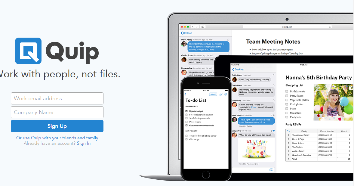Quip 比 Google Docs 更適合團隊會議的文件協作平台