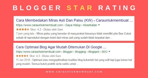 Cara Membuat Star Rating (Rich Snippets) Di Blog