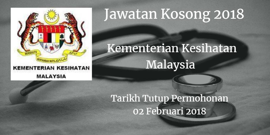 Jawatan Kosong KKM 02 Februari 2018