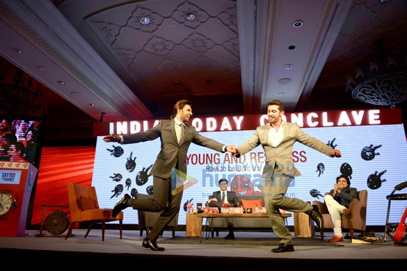 Amitabh Bachchan & Ranveer Singh at 'India Today Conclave 2014'