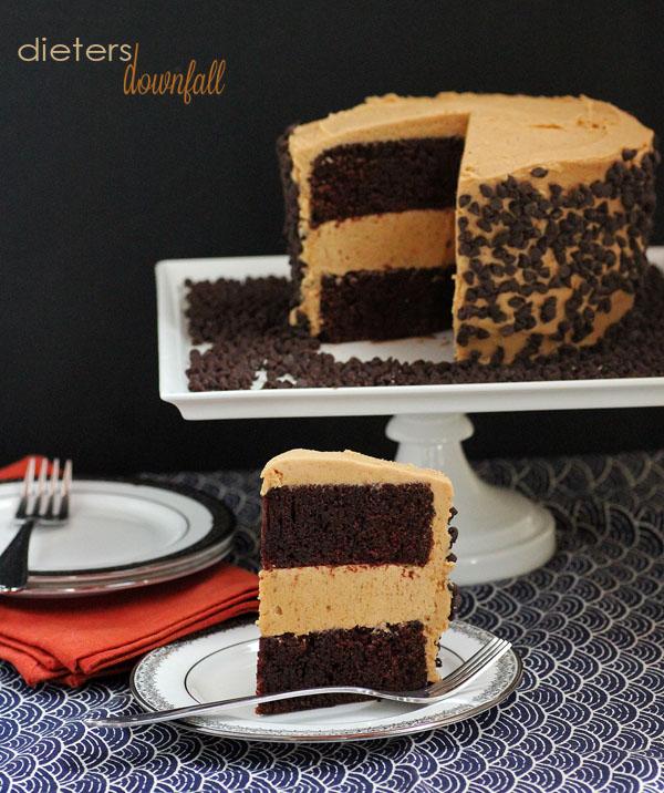 Chocolate Peanut Butter Cookie Dough Cake