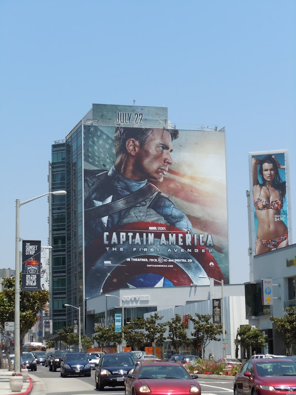 Captain America billboard Sunset Strip