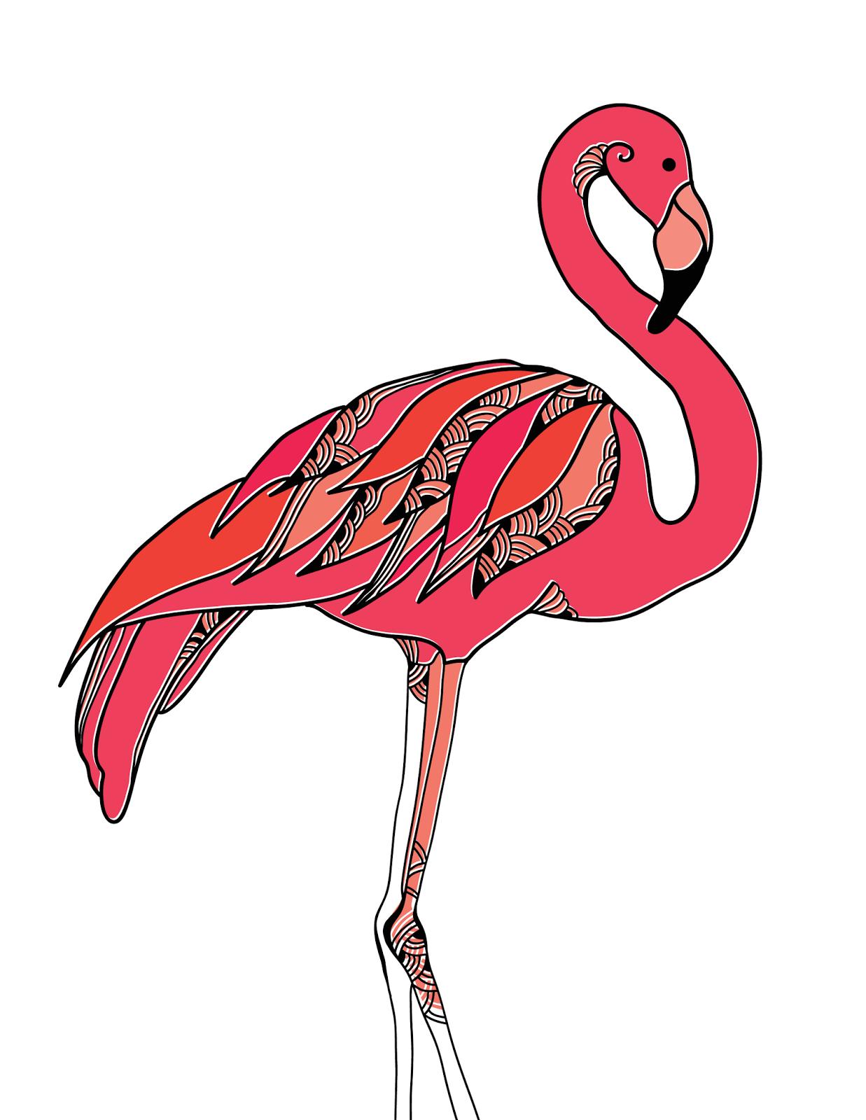 Freebies flamingo monogram gallery wall printables for Free wall painting designs