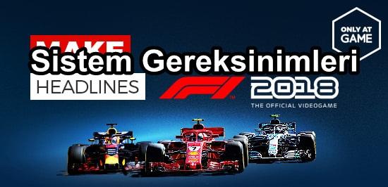 F1 2018 Sistem Gereksinimler