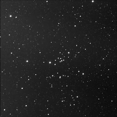 open cluster Messier 25 in luminance