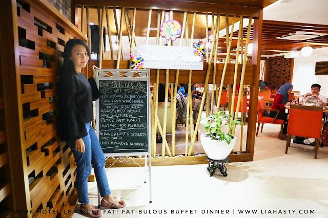 LET'S GET FAT! Fat-bulous Buffet Dinner di Restoran C'est Si Bon, Vouk Suites Hotel