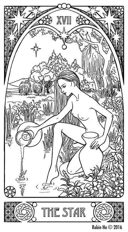 Tarot Cards Coloring Book
