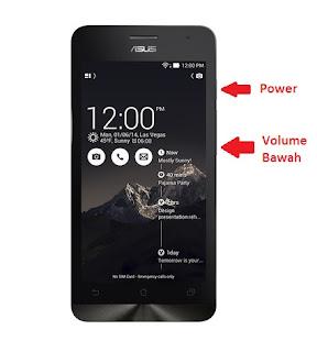 Cara Screenshot di Asus Zenfone C ZC451 Tanpa Aplikasi